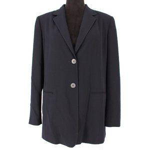 MaxMara Wool Navy 2 Button Navy Blue Blazer sz 12